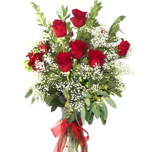 Classic Red Rose Bouquet Dozen
